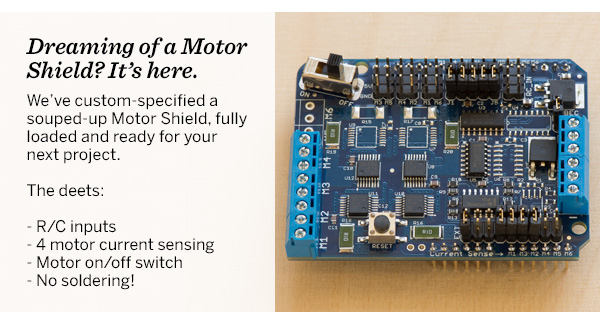 Dreaming of a Motor Shield? It's here.