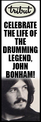 Celebrate the life of the drumming legend, John Bonham! Click to view Tribut's This Week In Rock Culture.