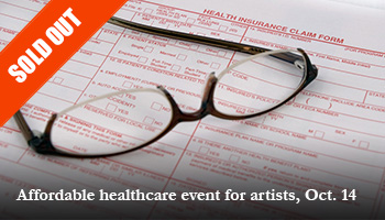 Affordable healthcare event for artists, October 14